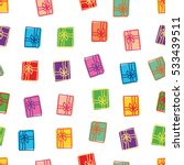 seamless pattern with gift...   Shutterstock .eps vector #533439511