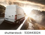 delivery truck on a country road | Shutterstock . vector #533443024