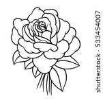 flowers roses  black and white. ... | Shutterstock .eps vector #533454007
