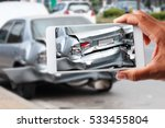 car insurance agents take... | Shutterstock . vector #533455804