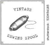 vintage sewing spool vector | Shutterstock .eps vector #533456185