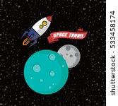 rocket ship space travel  | Shutterstock . vector #533458174
