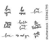 love lettering | Shutterstock .eps vector #533461795