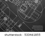 mechanical engineering drawing. ... | Shutterstock .eps vector #533461855