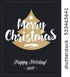 christmas greeting card with... | Shutterstock .eps vector #533465641