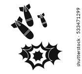 bomb icon. simple illustration...   Shutterstock .eps vector #533471299