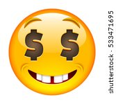 about money happy face. about... | Shutterstock . vector #533471695