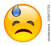 grumpy emoticon. isolated... | Shutterstock . vector #533471725