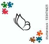 butterfly icon  vector...   Shutterstock .eps vector #533476825