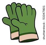 gardening tools pair of green... | Shutterstock .eps vector #53347801
