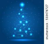 cyber new year tree  vector | Shutterstock .eps vector #533478727