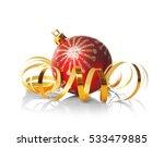 Christmas Ball With Streamer O...