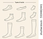Types Of Socks Collection. No...