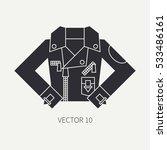 line flat silhouette vector...   Shutterstock .eps vector #533486161