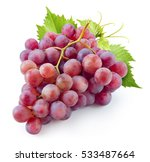 Ripe Red Grape. Pink Bunch Wit...