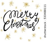 lettering merry christmas and... | Shutterstock .eps vector #533488111