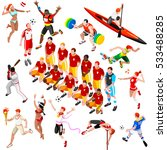 sport icon isometric set... | Shutterstock .eps vector #533488285
