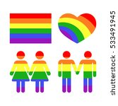 vector rainbow gay lgbt rights... | Shutterstock .eps vector #533491945