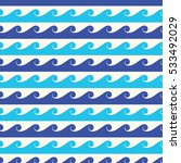 blue waves vector seamless... | Shutterstock .eps vector #533492029