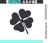 clover with four leaves sign... | Shutterstock .eps vector #533494225