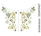 flower embroidery  artwork... | Shutterstock .eps vector #533495407