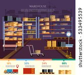 warehouse infographic  interior ... | Shutterstock .eps vector #533495539