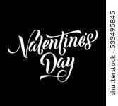 valentine day monogram text... | Shutterstock .eps vector #533495845