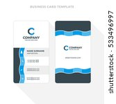 vertical double sided business... | Shutterstock .eps vector #533496997