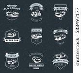 set of classic car logo ... | Shutterstock .eps vector #533497177