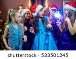 group of cheerful young girls... | Shutterstock . vector #533501245