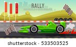 car racing banner  car on a... | Shutterstock .eps vector #533503525