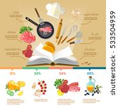 cookbook flat style cooking... | Shutterstock .eps vector #533504959