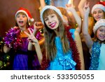 group of cheerful young girls... | Shutterstock . vector #533505055