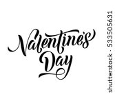 valentine day text font. hand... | Shutterstock .eps vector #533505631