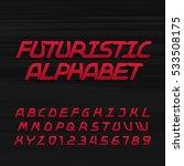 futuristic alphabet vector font.... | Shutterstock .eps vector #533508175