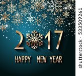 happy new year 2017 text design.... | Shutterstock .eps vector #533509261