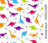 cute kids pattern for girls and ... | Shutterstock .eps vector #533511409