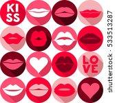 valentine day background... | Shutterstock . vector #533513287