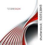 bright vector background. wavy... | Shutterstock .eps vector #533513845