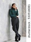 beautiful woman in fashion... | Shutterstock . vector #533518081