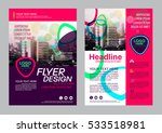 modern brochure layout design... | Shutterstock .eps vector #533518981