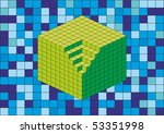 the big cube created from the... | Shutterstock .eps vector #53351998