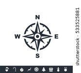 compass icon | Shutterstock .eps vector #533525881