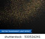 gold glitter particles vector... | Shutterstock .eps vector #533526241