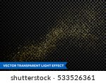 gold glitter particles on... | Shutterstock .eps vector #533526361