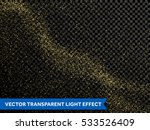 shining glow particles and... | Shutterstock .eps vector #533526409