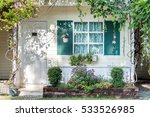 home gardening with gate ... | Shutterstock . vector #533526985