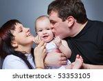 closeup studio family portrait... | Shutterstock . vector #53353105