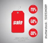 label hanging tag collection...   Shutterstock .eps vector #533534089