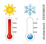 thermometer icon vector... | Shutterstock .eps vector #533538019